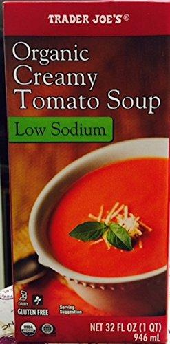 Trader Joes Organic Creamy Tomato Soup Low Sodium Gluten Free