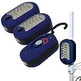 Evelots Compact-Flashlight,Magnetic/Swivel Hook/Super Bright 27 LED Lights-Set/3