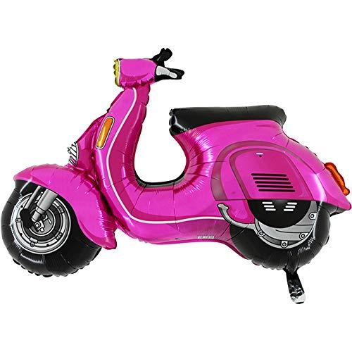 Ballonim® Motorroller Moped Motorrad-pink Flitzer-XXL Riesenballon ca. 80cm Luftballons Folienballon Party DekorationGeburtstag