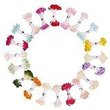 暖かい色 フラワー ペップ・花材 パールペップ 人工 造花用 花芯・ペップ 直径約3mm 長さ約6.5cm 造花 雄しべ 20色セット 75本x20束入り