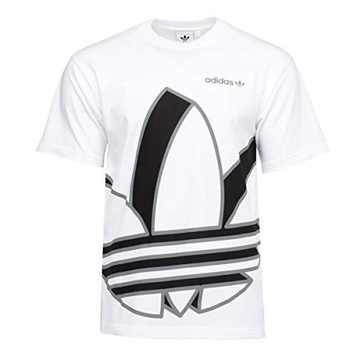 adidas Originals Big Trefoil Short Sleeve Mens T-Shirts GH9487 Size L White/Black/