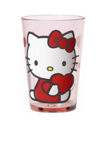 Sanrio - Verre en Mélamine - Hello Kitty Coeur.