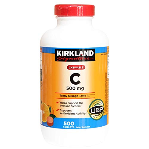 Kirkland Vitamina C 500mg Mastigável