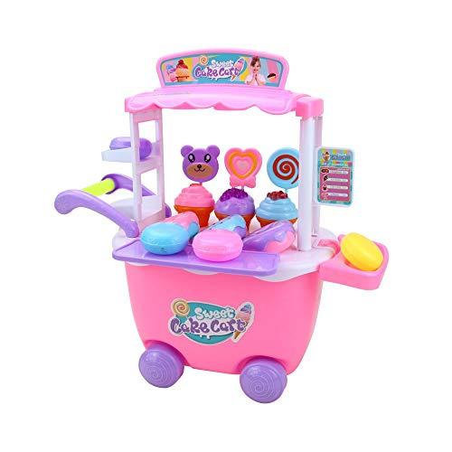 Chenzinan Rollenspel Ice Cream Speelgoedkarretje speeltoestel for kinderen Pretend Play Food - Educatief Ice-Cream Trolley Truck Grote Gift for Kids 3 jaar + ( Color : 1 )