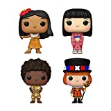 Funko Pop! Disney Its a Small World Set of 4: USA, England, Kenya and Japan