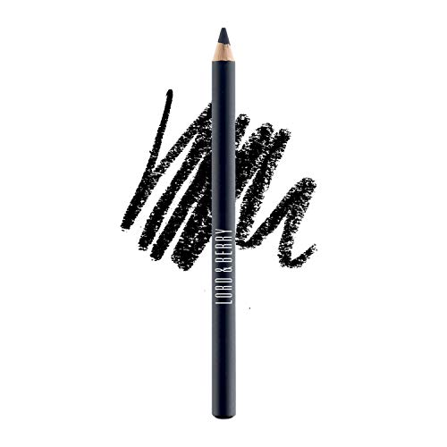 Lord & Berry SILK KAJAL Kohl Eyeliner Pencil, Long Lasting Eye Makeup With Smudgeable Semi-Matte Finish, Black