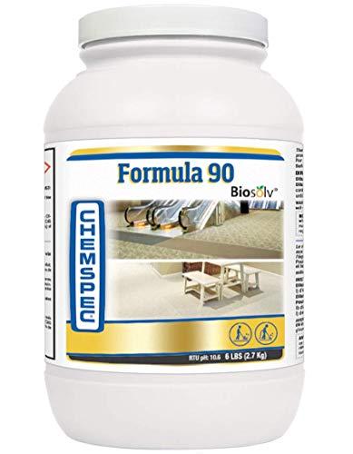 Chemspec C-PF906 Formula 90 BioSolv, Professional Carpet Cleaning Detergent, Quick Dissolving Powder, Fresh Citrus Scent, 1-6 lb jar