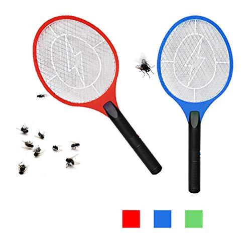 ALLPER Raqueta matamosquitos eléctrica, matamoscas. Puerto USB Recargable. El Color será enviado al Azar. TAMAÑO: 51 x 21 cm. Red Dibujo Rayo. Moscas, polillas e Insectos.