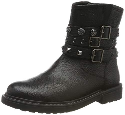 Geox Mädchen J ECLAIR GIRL B Biker Boots, Schwarz (Black C9999), 38 EU