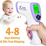Non Contact Digital Infrared Forehead Thermometer Gun Accuracy Instant Readings Fever Temperature Measure Tool for All Baby, Adults and Surface of Objects