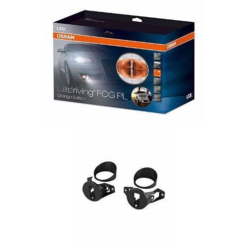 OSRAM LEDriving FOG PL Nebelscheinwerfer/Tagfahrlicht in Orange mit Zusatzbefestigung, LEDFOG103-OG, FOG103/201-NIS-M, 1 Komplettset