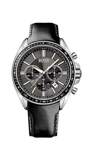 Hugo Boss Men's 1513085 Black Leather Quartz Watch