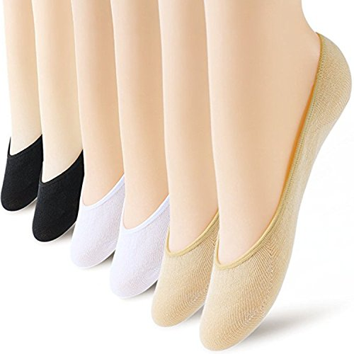 6 Pairs No Show Socks Women No Show Liner Socks Womens No Show Socks Thin Low Cut Casual Socks Non Slip