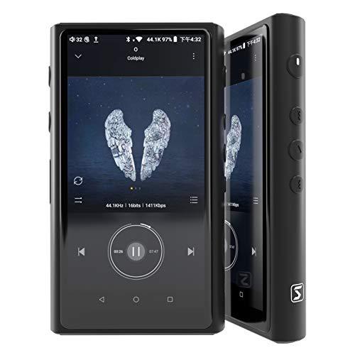 HiBy R5 Saber Portable Hi-Res Music Player, High Resolution Lossless Music Audio Player with HiFi Bluetooth/LDAC/aptX/MQA/DSD/FLAC/Android 8.1/5G WiFi/DTA/UAT/USB DAC, Full Touch Screen - Black