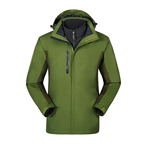 Neutrale jas, korte dikke warme sport- en vrijetijdsjas, antistatisch, winterbestendig en winddicht ski-jack Drie in één.