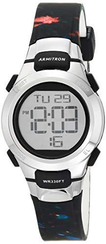 Armitron Sport Women's Quartz Sport Watch with Resin Strap, Black, 12 (Model: 45/7012SPL)