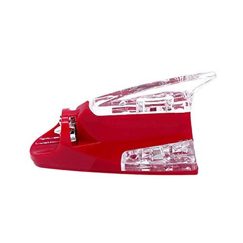 BAOBUM Antena Radio Universal Car-Styling Creativo Energía eólica LED Atmósfera Luz Luz Tiburón Antena Antes Advertencia Lámpara Flash Accesorios Exterior Antena de Coche (Color : Red)