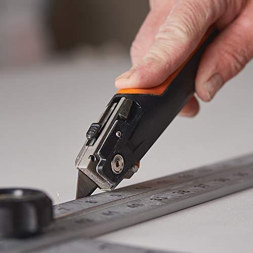 Fiskars 770060-1001 Pro Drywaller's Utility Knife, Orange/Black