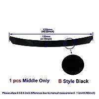 ユニバーサルカーボンファイバー/ブラックカーフロントバンパーリップスプリッタバンパーディフューザガードプロテクター (Color : Middle Black B)