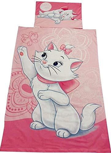 Disney Kinder Heimtextilien, Aristocats Kinder-Bettwäsche Set Marie Baby, aus 100% Baumwolle, Oeko-TEX