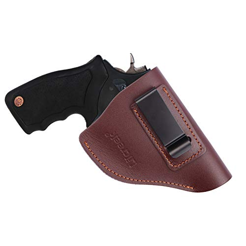 Lilcreek Leather IWB Revolver Holster, Fits Most J Frame Revolvers - Ruger LCR, S&W 442/642, Taurus 50 85, Charter Arms, Kimber K6s & Most .38 Special Revolvers