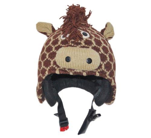 PINK YAK Überzug für Skihelm Giraffe