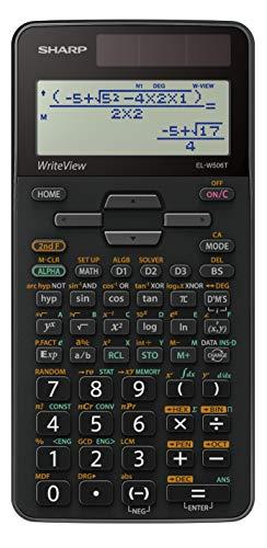 Sharp ELW506 T-GY Wissenschaftlicher Schulrechner (WriteView-Anzeige und D.A.L.-Eingabe, Solar-/Batteriebetrieben) silber/schwarz
