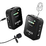 SYNCO G2(A1) 2.4Ghz Micrófono-Solapa-Inalámbrico-Móvil-Cámara DSLR con Pantalla TFT, Lavalier Microfono Corbata Wireless Compatible para iPhone/Android, Reflex, Videocámara, Tablet