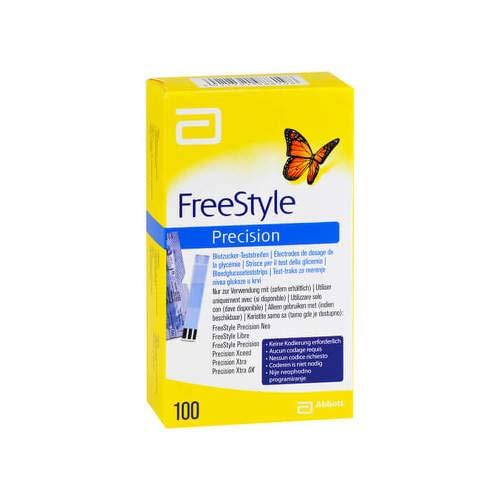 FREESTYLE Precision Blutzucker Teststr.o.Codier. 100 St