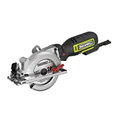 [MORE MANEUVERABILITY] All the functionality of a full-size circular saw but in a compact design that's easier to use, and easier to make quick cuts with [REAR MOTOR] For a more balanced feel. With the motor in the handle, you control much of the wei...