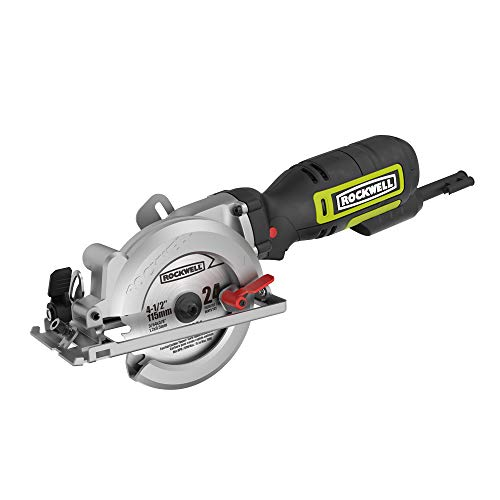 "Rockwell 4-1/2"" Compact Circular Saw, 5 amps, 3500 rpm, with Dust Port and Starter Kit– RK3441K"