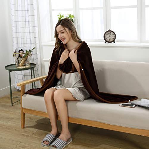 Yazidan Dame Multifunktions Doppelschicht Tartan Plaid Blanket Schal Wrap Schal Winter warm Flanell Lazy Schal Decke Single Layer 100x130cm