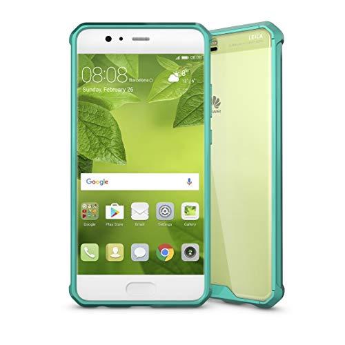 ZAORUN Cubiertas Protectoras para celulares Huawei P10 Plus acrylique TPU Transparent Armure Housse de Protection (Color : Green)