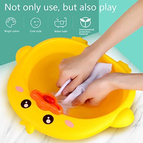 CHshe Bade Washbasin Spielzeug Baby Kinder Mini Babywaschbecken Multifunktion Cartoon Ente Waschbecken Badezimmer Wasserspray Spielzeug Sommer, Gesund Ungiftiges Material