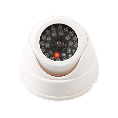 Wsdcam Dome Surveillance Security Dummy Imitation Camera Fake Security Camera Simulated Infrared IR LED Fake Camera with Blinking Light CCTV Surveillance