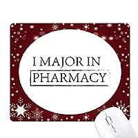 私は薬局における主要引用 オフィス用雪ゴムマウスパッド