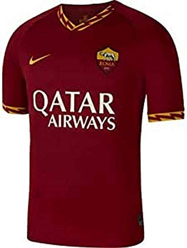 Nike Herren Fußballtrikot A.S. Roma 19/20 Stadium Home, Team Crimson/University Gold, 2XL, AJ5559-613