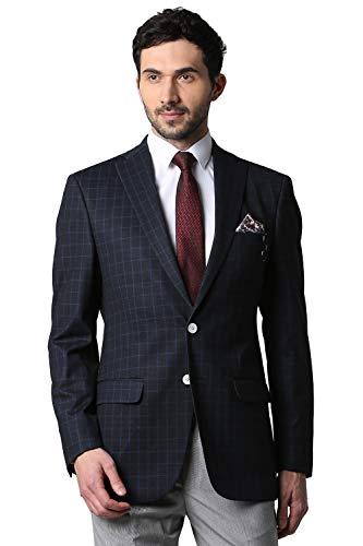 Peter England Men's Notch Lapel Regular Fit Blazer