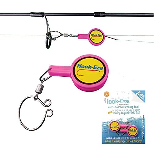 HOOK-EZE Fishing Gear Knot Tying Tool for Fishing Hooks – Cover Hooks on...