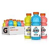 Gatorade Zero Sugar Thirst Quencher, Cool Blue Variety Pack, 20 Fl Oz (Pack of 12)