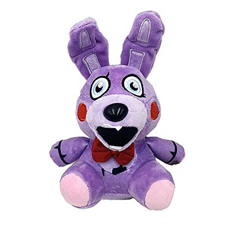 AMM FNAF Plushies Stuffed Animals, 7' All Character - Cute Five Nights at Freddys Plush Toys, Nightmare Circus Twisted Wolf Bonnie Freddy Fazbear Funtime Fox Pirate Toys, Soft Dolls Gifts for Kids