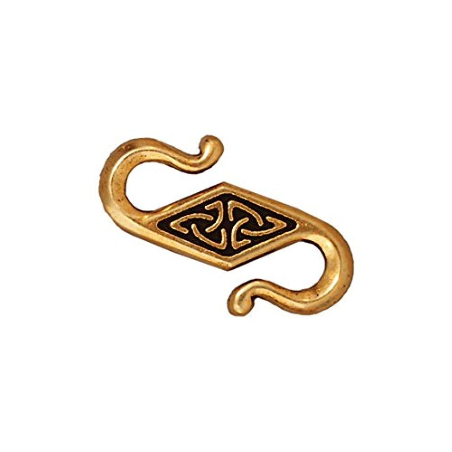 TierraCast Clasp Celtic S-Hook, 22.75mm, Antique Gold