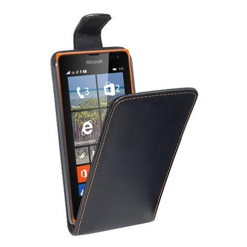 PEDEA Flipcase Hülle für Microsoft Lumia 435 Tasche, schwarz