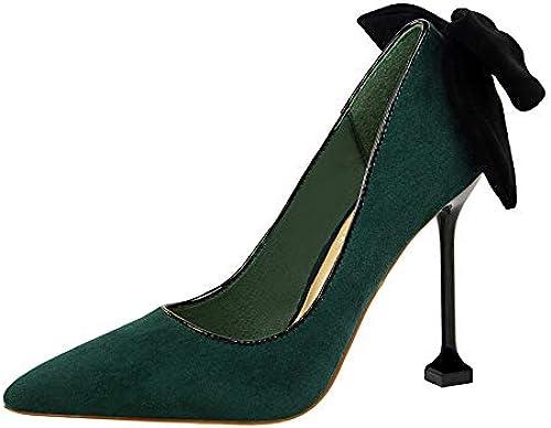 Damen Oxford Schuhe schnüren High Heels spitz klobige Heels