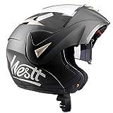 Westt Torque · Casco Modulare Moto Nero Opaco Doppia Visiera Scooter Motorino · Casco Moto Donna e Uomo · Omologato ECE
