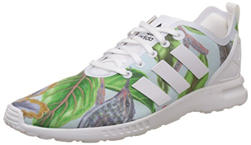 adidas adidas Damen ZX Flux Smooth Laufschuhe, Mehrfarbig (Core White/Core White/Core Black), 38 2/3