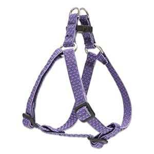 LupinePet Eco 1/2″ Lilac 12-18″ Step In Harness for Small Dogs