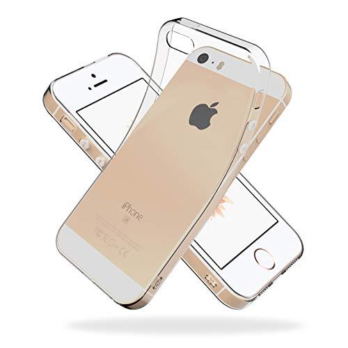 Youriad iPhone SE (2016) / 5S / 5 ケース カバー SE 旧型 第1世代 | 透明 クリア ソフト カバー| 特徴 軽量 インチ 薄型 ストラップ 滑り止め 落下防止 TPU(iPhoneSE 旧型 第1世代 2016 / iPhone5S / iPhone5 専用)