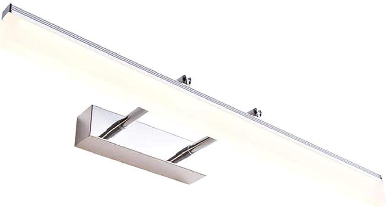 Im europischen Stil Spiegel vorne Licht WC Badezimmer Kommode Spiegel Licht Einfache moderne Farbe Silber Energiesparende LED Wasserdicht Beschlagfrei Wandleuchte (Gre  70 cm 16 w)