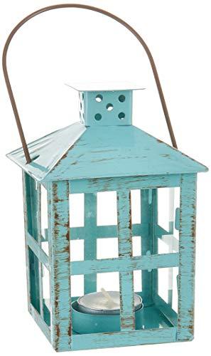 Kate Aspen Vintage Distressed Lantern, medium, Blue